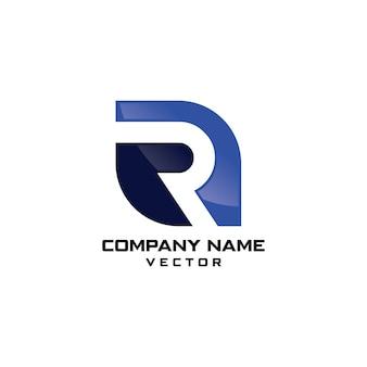 R symbool bedrijfslogo ontwerp