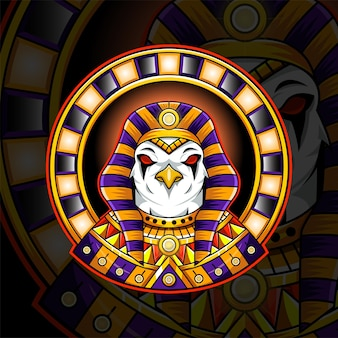 Ra egyptische god mascotte logo