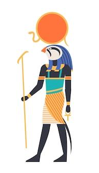 Ra - god van de zon, schepper, godheid of mythologisch wezen met vogel-, havik- of valkenkop