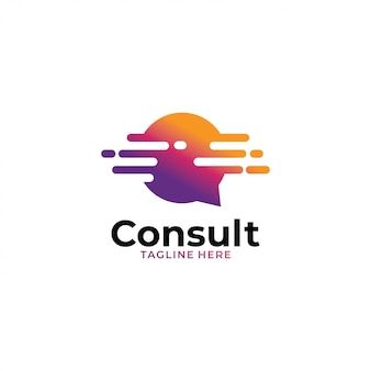 Raadpleeg logo-concept