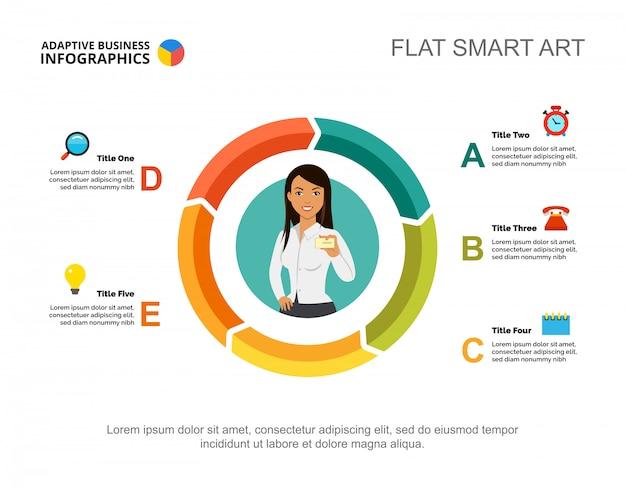 Raadplegen van dia-sjabloon voor specialisten. bedrijfsgegevens. grafiek, grafiek