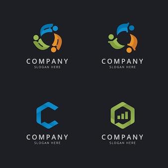 Raadpleging van logo sjabloonontwerp