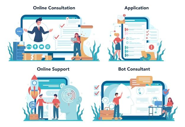 Raadpleging van online service of platformset