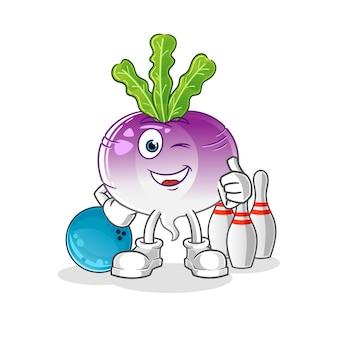 Raap spelen bowling illustratie