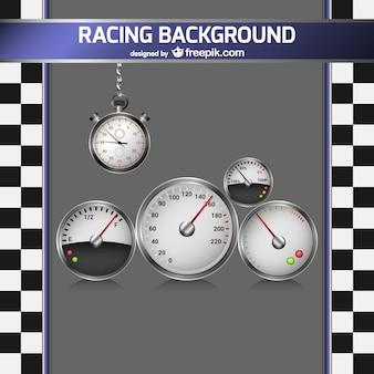 Race-achtergrond met snelheidsmeter