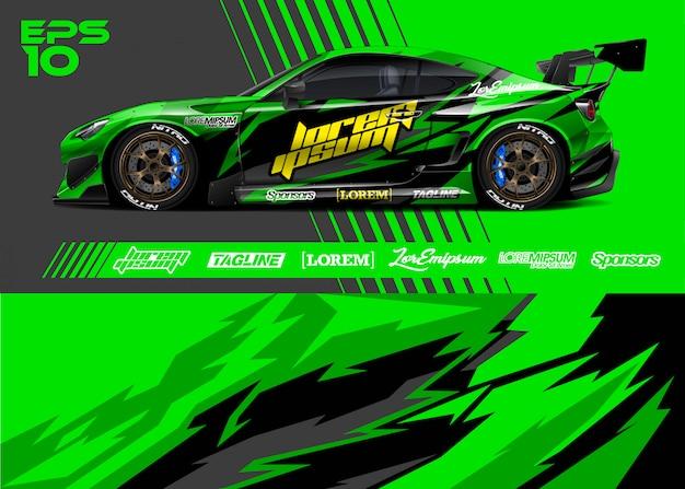 Race auto kleuren ontwerpen