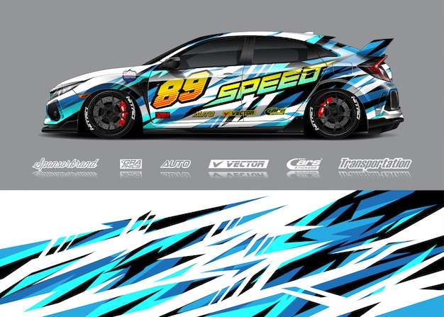 Race auto wrap illustratie