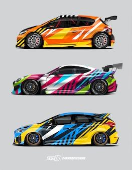 Race auto wrap ontwerpen concept