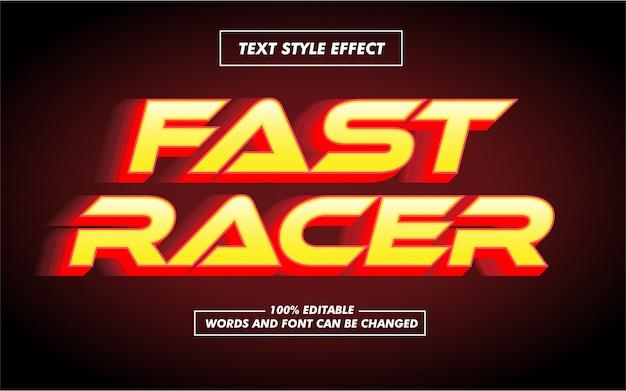Race en snel vetgedrukt tekststijleffect