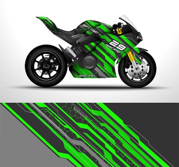 Race motorfiets sport fietsen wrap sticker en vinyl sticker ontwerp.