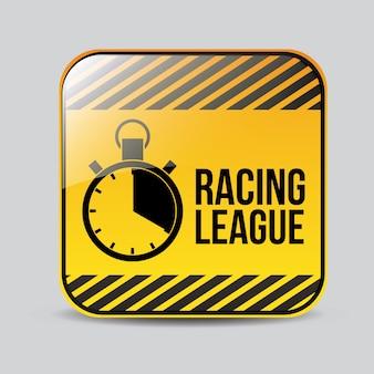 Race ontwerp, vectorillustratie.