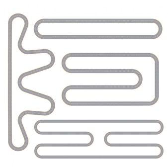 Race track vier geïsoleerde patronen ingesteld