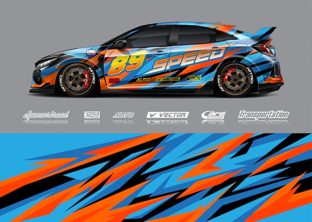 Raceauto livrei illustraties