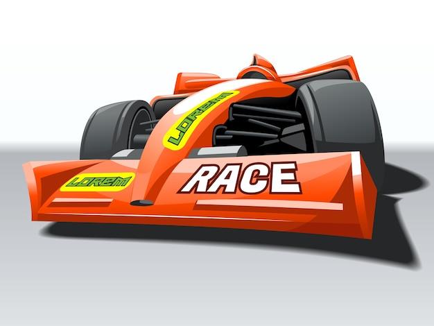 Raceauto op hoge snelheid.