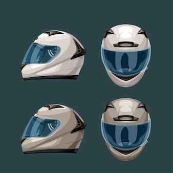 Racehelmen ingesteld op blauw