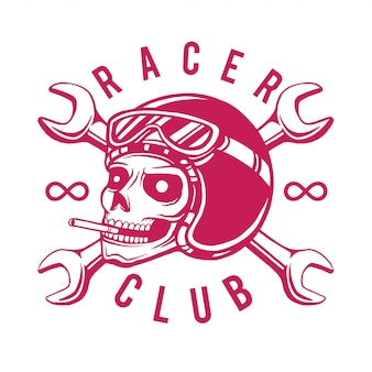 Racer club t-shirt ontwerp