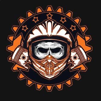 Racer motocross t-shirt ontwerp