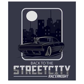 Racer nacht in de stad