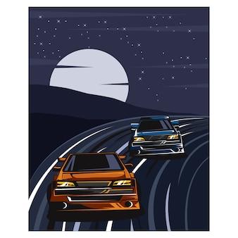 Racer nachtavontuur