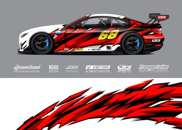 Racewagen illustraties