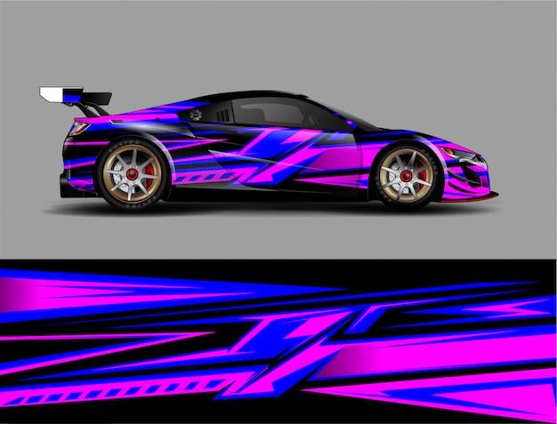 Racewagen wrap ontwerp vector