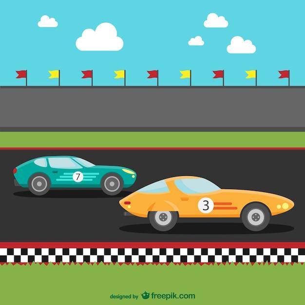 Racewagens cartoon
