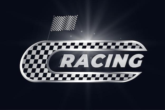 Racing achtergrond met geruite vlag