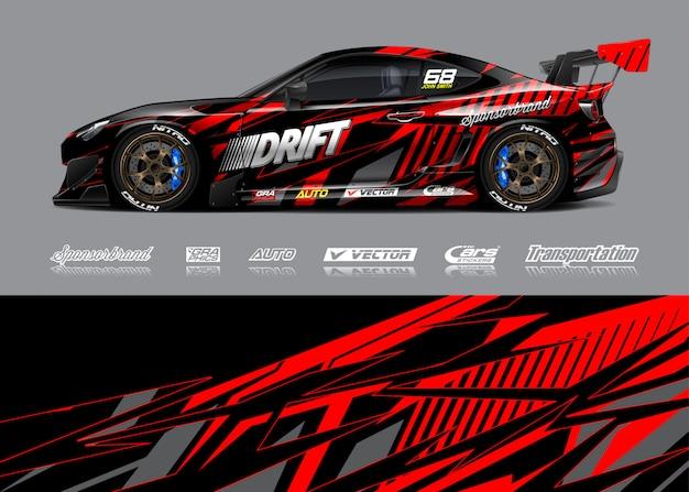 Racing car wrap illustratie