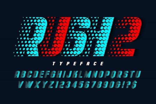 Racing display lettertype, alfabet, lettertype, letters
