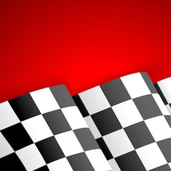 Racing geblokte vlag afwerking