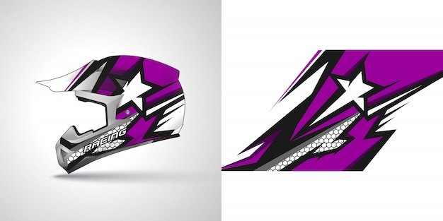 Racing helm wrap illustratie
