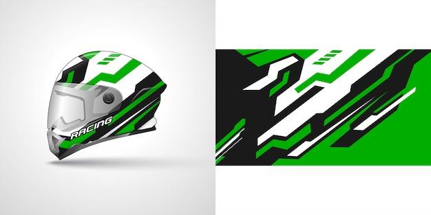 Racing helm wrap illustratie