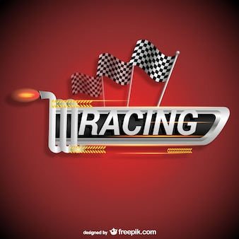 Racing logo vector