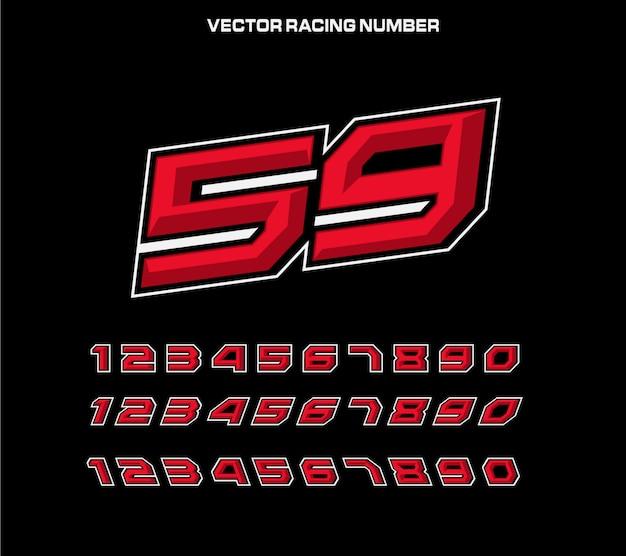 Racing nummer ontwerpsjabloon voor sticker