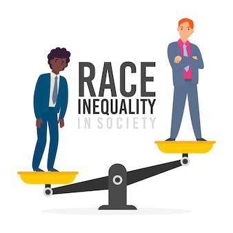 Racisme concept met schalen
