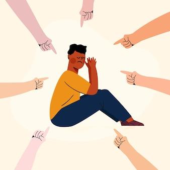 Racisme illustratie concept
