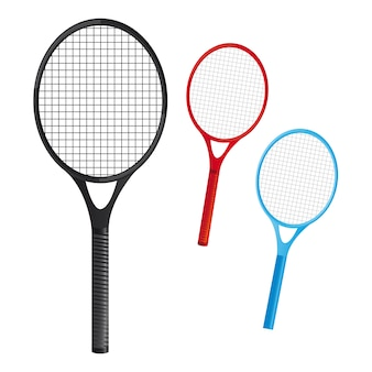 Rackets tennis over witte achtergrond vector illustation