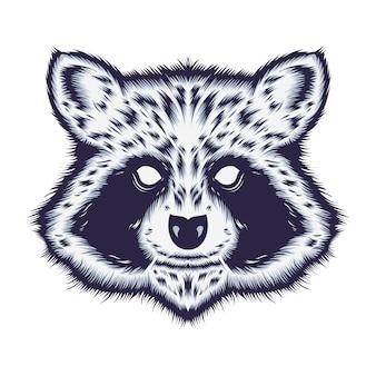 Racoon illustratie