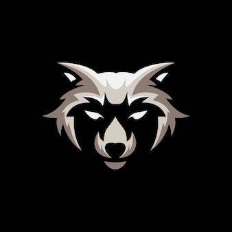 Racoon mascot illustratie ontwerp