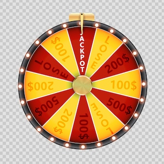 Rad van fortuin, lucky icon. illustratie