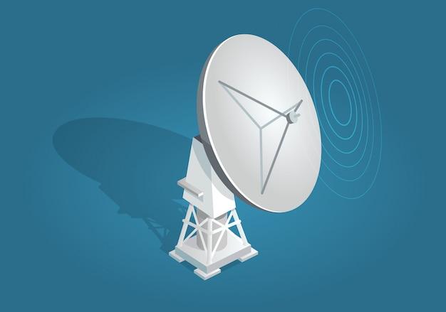 Radarschotel satellieten schotel plat en schaduwthema