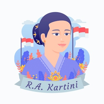 Raden ajeng kartini illustratie