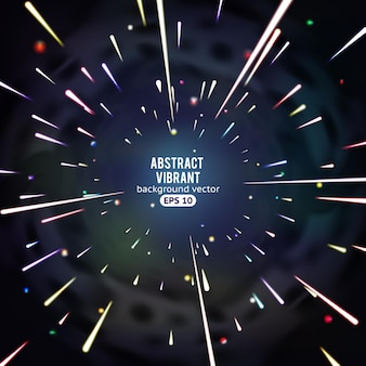 Radiale futuristische lichten, abstracte levendige afbeeldingen met beweging in de ruimte.