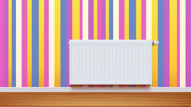 Radiator aan muur 01
