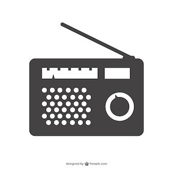 Radio-apparaat silhouet
