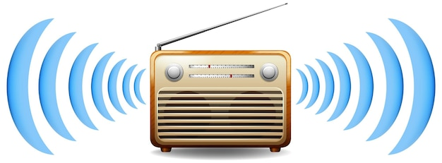 Radio met geluidsgolf