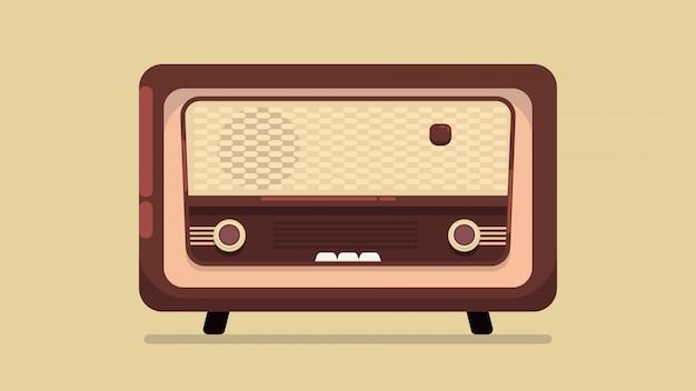 Radio vintage illustratie