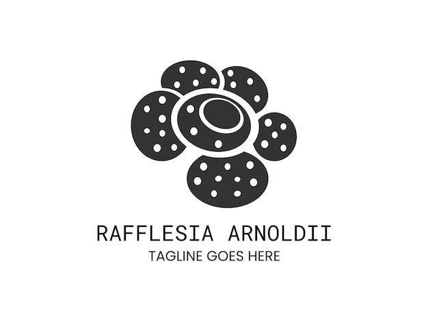 Rafflesia arnoldi bloem silhouet voor botanisch logo