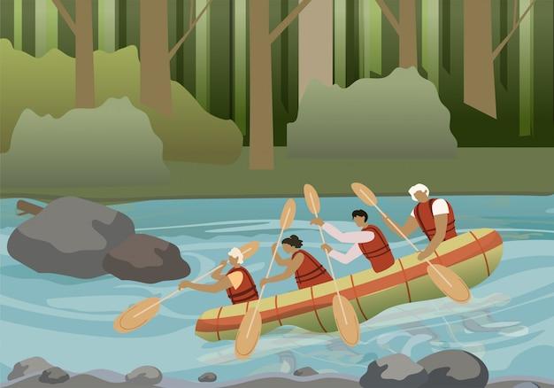 Rafting extreme activiteit vlak