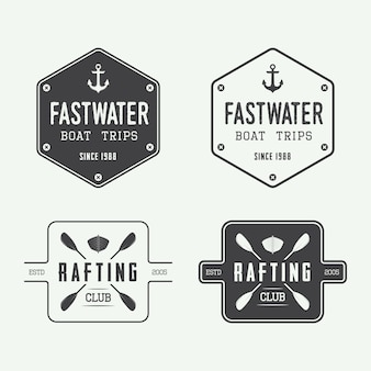Rafting logo badges